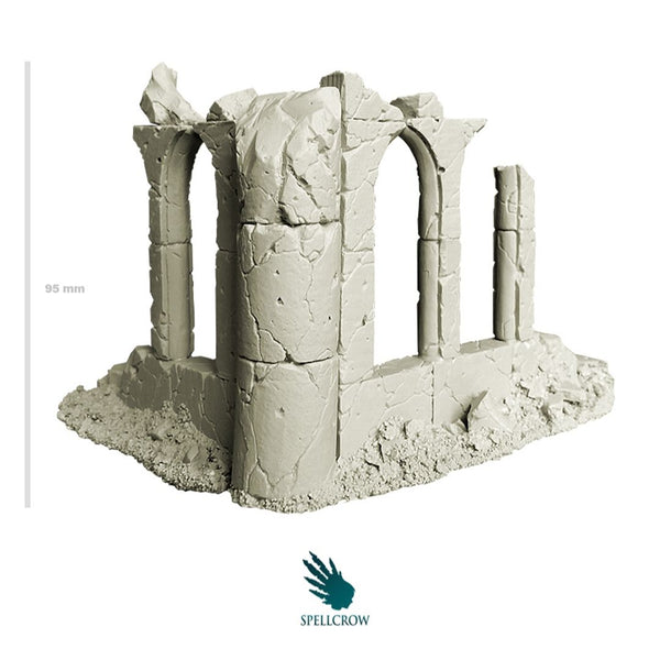 Spellcrow Corner of Ruined Temple 1pk - Outside - unpainted
