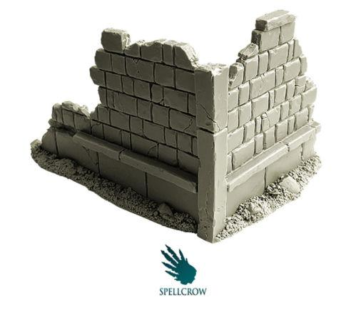 Spellcrow Resin Terrain - Ruined City Walls
