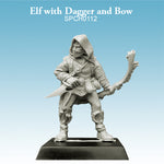 Elf with Dagger & Bow Ranger Rogue unpainted