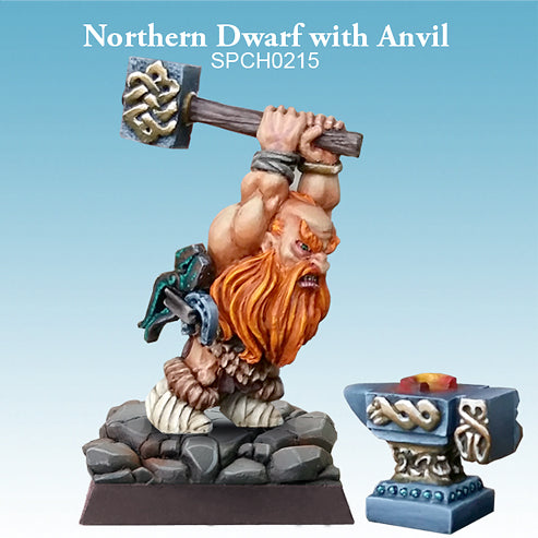 Spellcrow Dwarf Barbarian Smith Anvil painted