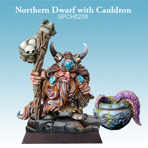 Spellcrow Northern Dwarf with Cauldron 1pk - Painted