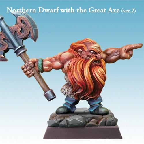 Spellcrow Northern Dwarf with the Great Axe - painted D&D mini