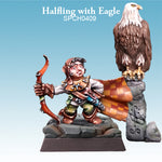 Spellcrow Halfling with Eagle 1pk - Painted