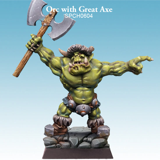 Spellcrow Orc with Great Axe 1pk - Painted