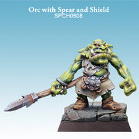 Spellcrow Male Orc Spear painted