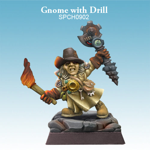 Spellcrow Male Gnome Artificer Wizard - painted