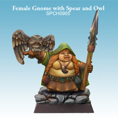 Spellcrow Female Gnome Druid or Wizard - painted