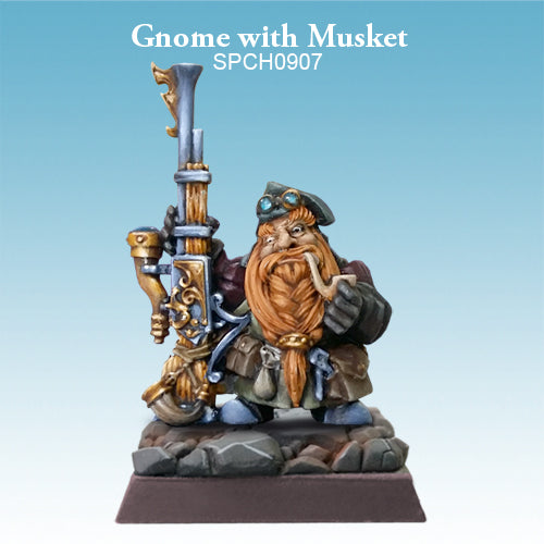 Spellcrow Male Gnome Boomstick (musket) - painted