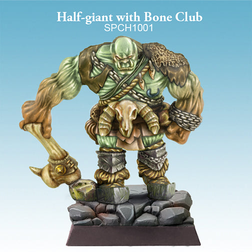 Spellcrow Half Giant with Club - Male Goliath Barbarian painted