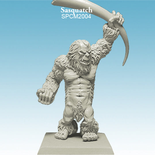 Spellcrow Yeti with club unpainted