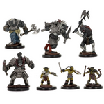 D&D minis - village raiders