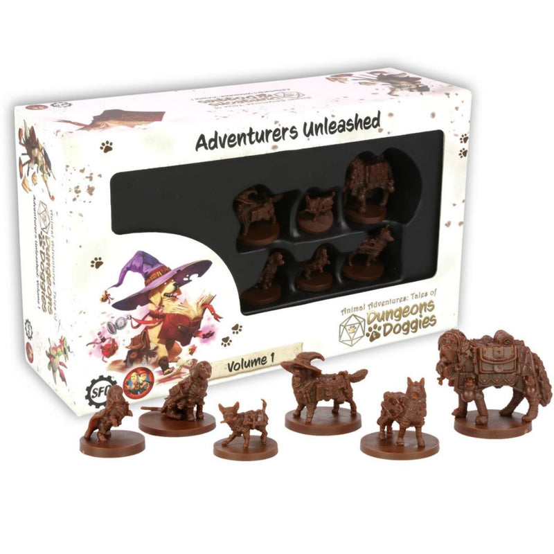 SFAADD-001 Dungeons and Doggies Box 1 (Pack of 6) - Box & Miniatures