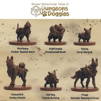 SFAADD-002 Dungeons and Doggies Box 2 (Pack of 6) - Miniatures Labelled