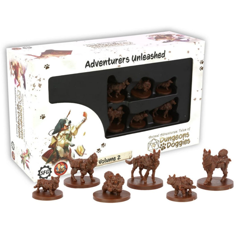 SFAADD-002 Dungeons and Doggies Box 2 (Pack of 6) - Box & Miniatures