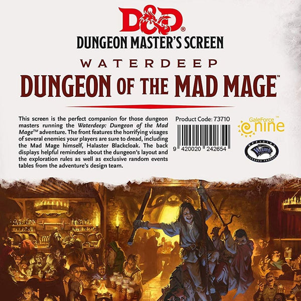 DM Screens - D&D DM Screen - Waterdeep Dungeon of the Mad Mage