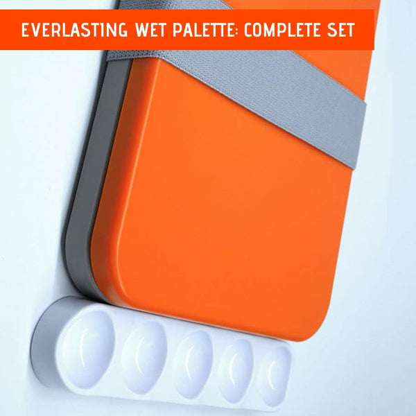 Wet Palette - RedgrassGames Everlasting Wet Palette - Complete Set with Wavy Well Palette