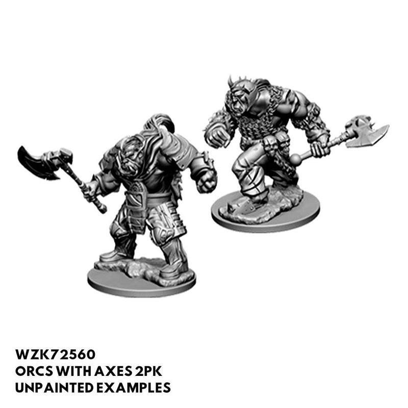 D&D Miniatures - Orcs with Axes 2pk - Unpainted