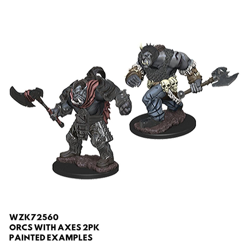 D&D Minis - Orcs with Axes 2pk - Painted