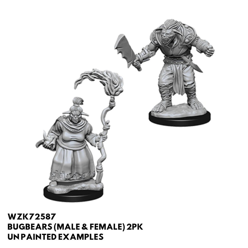 Pathfinder Minis - Bugbears (Male & Female) - Unpainted