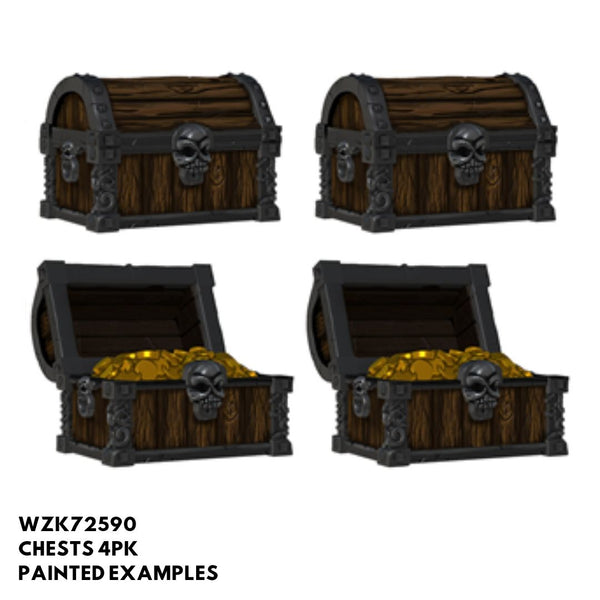 Pathfinder Miniatures - Chests - Painted