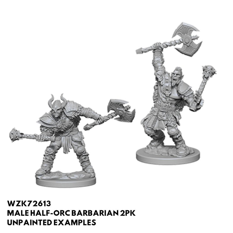 Pathfinder Minis - Male Half Orc Barbarian - Unpainted