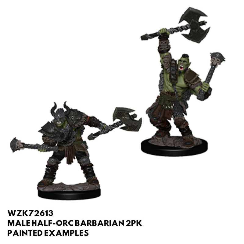 Pathfinder Miniatures - Male Half Orc Barbarian - Painted