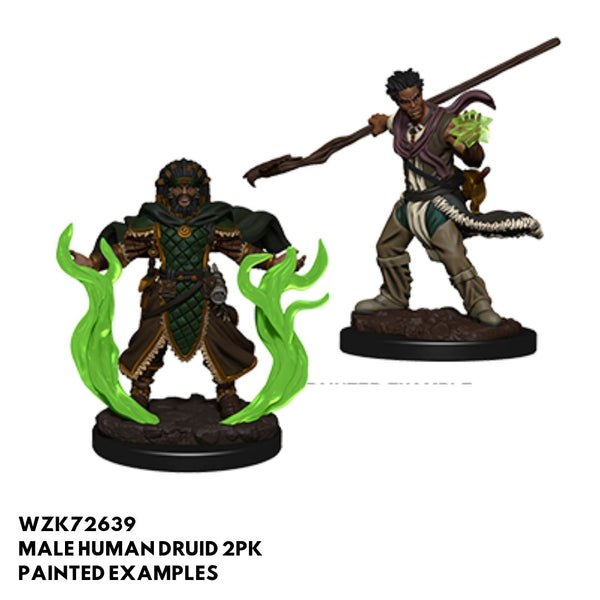 D&D Minis - Male Human Druid 2pk - Painted