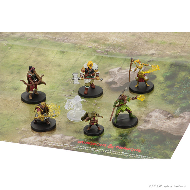 D&D Miniatures - Epic Level Starter minis on table