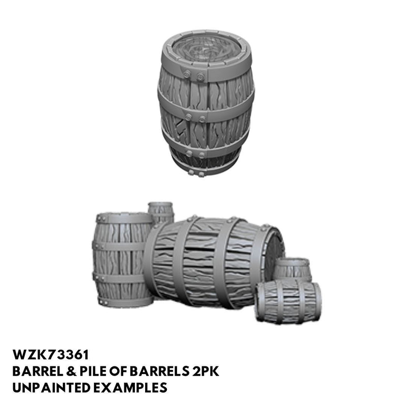 Pathfinder Minis - Pile of Barrels - Unpainted