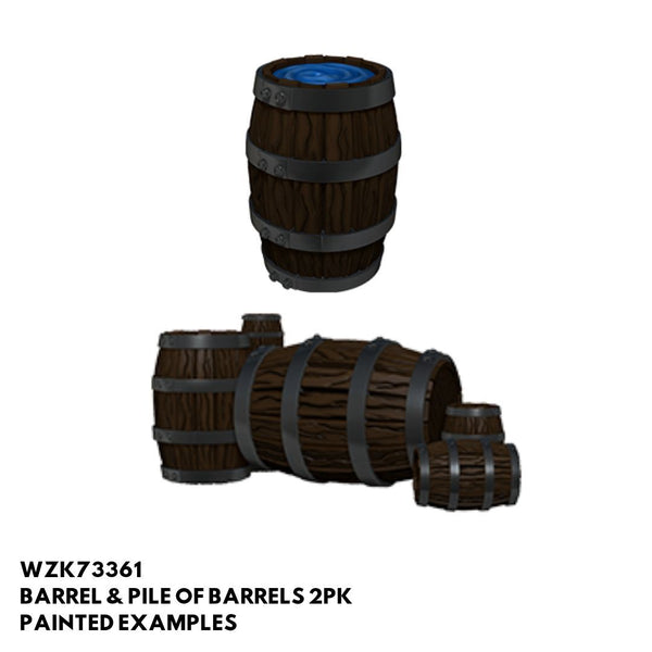 Pathfinder Miniatures - Pile of Barrels - Painted