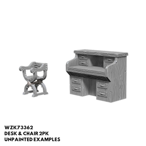 Wizkids #73362 Desk & Chair 2pk - Unpainted Examples