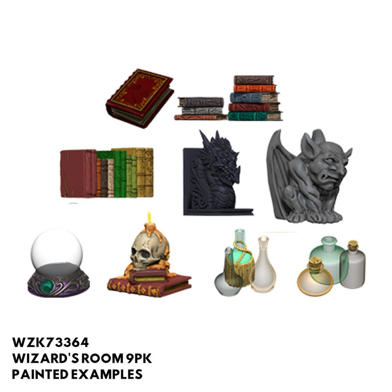 Pathfinder Miniatures - Wizard's Room - Painted