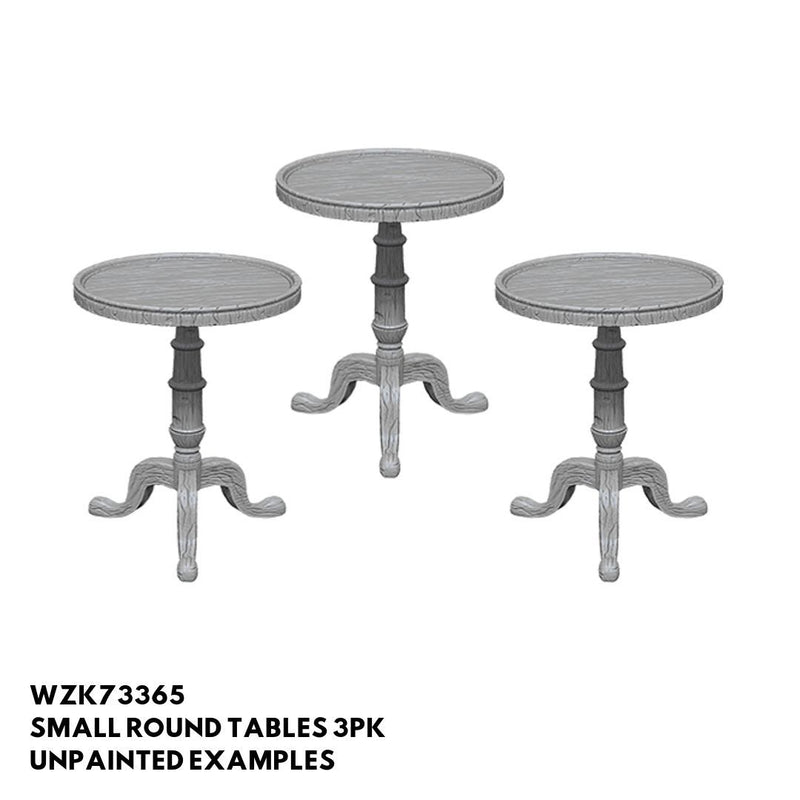 D&D Miniatures - Small Round Tables 3pk - Unpainted