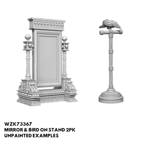 Wizkids #73367 Mirror & Bird on Stand 2pk - Unpainted Examples
