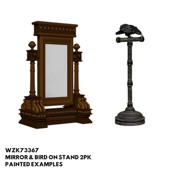 Pathfinder Miniatures - Mirror & Bird on Stand - Painted