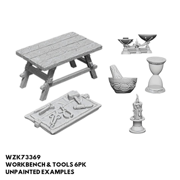 Wizkids #73369 Workbench & Tools 6pk - Unpainted Examples