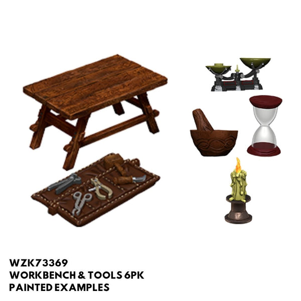 Wizkids #73369 Workbench & Tools 6pk - Painted Examples
