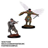 D&D Minis - Male Aasimar Fighter 2pk - Painted