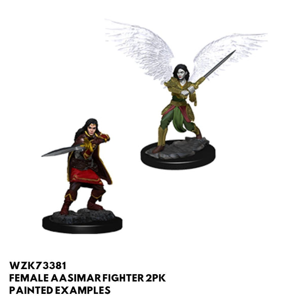 D&D Minis - Female Aasimar Fighter 2pk - Painted