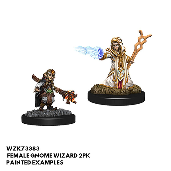 D&D Minis -  Female Gnome Wizard 2pk - Painted