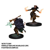 D&D Minis - Female Tiefling Warlock 2pk - Painted
