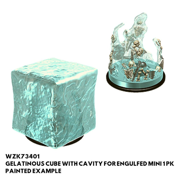 Wizkids #73401 Gelatinous Cube w/ cavity for engulfed mini 1pk - Painted Example