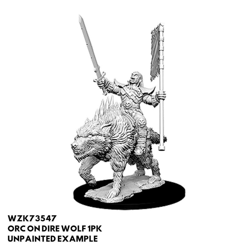 Pathfinder Minis - Orc on Dire Wolf - Unpainted