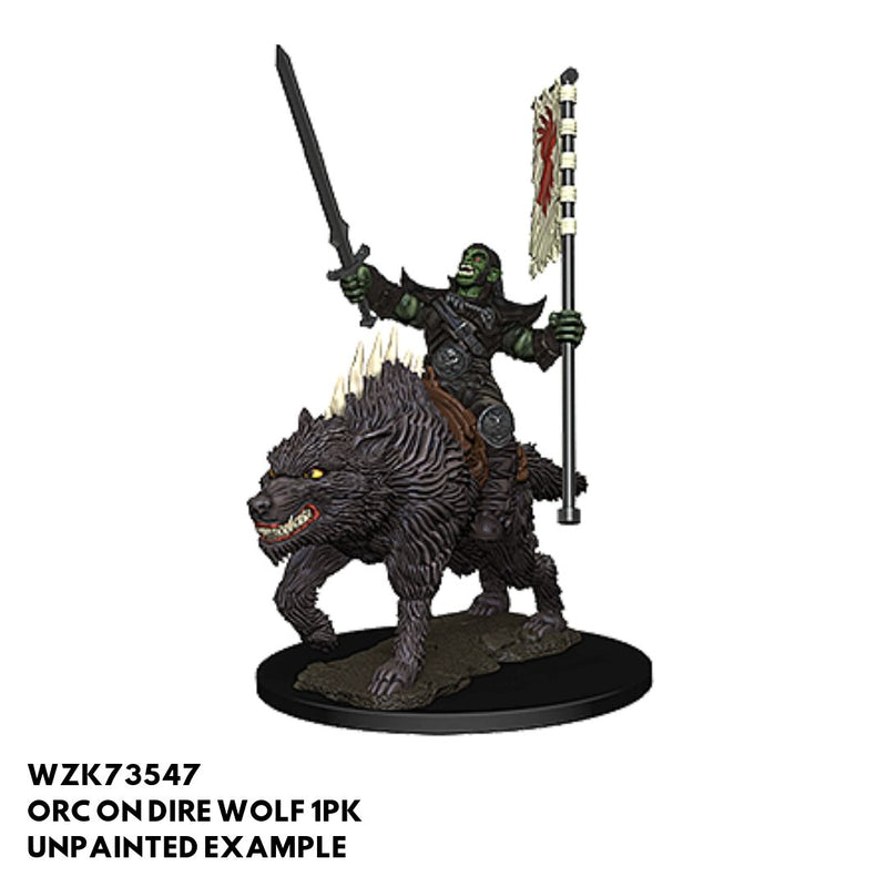 Pathfinder Miniatures - Orc on Dire Wolf - Painted