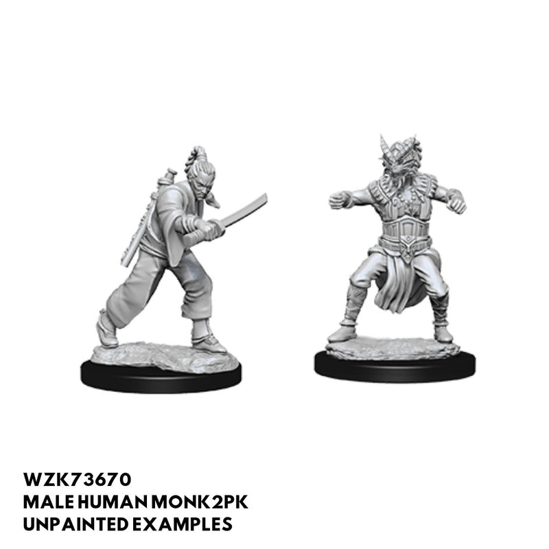 D&D Miniatures - Male Human Monk - unpainted