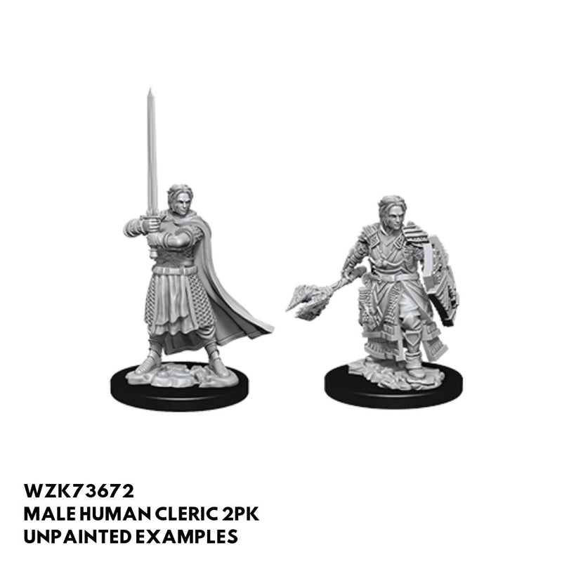 D&D Miniatures - Male Human Cleric - unpainted
