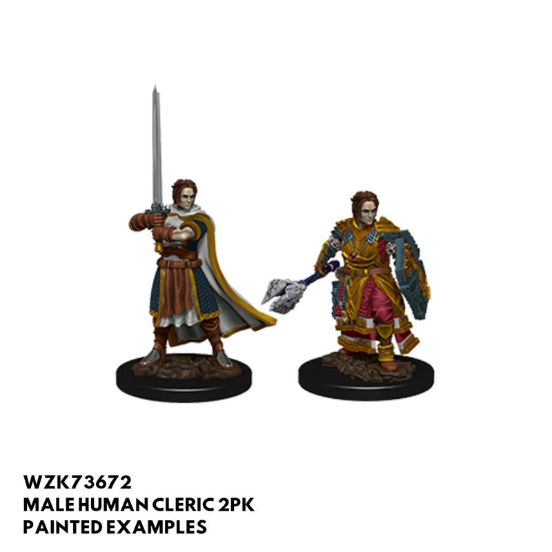D&D Minis - Male Human Cleric - painted