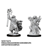 D&D Miniatures - Female Dragonborn Sorcerer - Unpainted