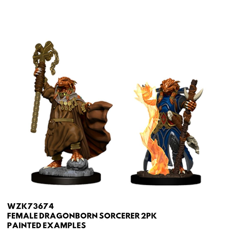 D&D Minis - Female Dragonborn Sorcerer - painted