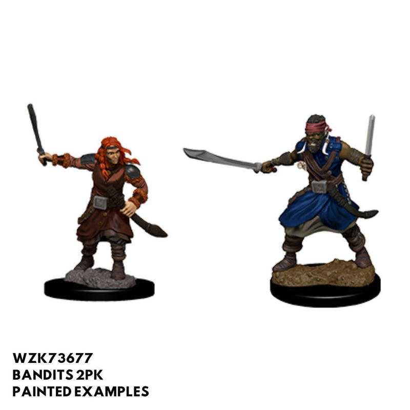 D&D Minis - Bandits (Male) - painted